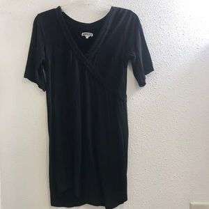 Quicksilver tunic top blouse shirt size xs black